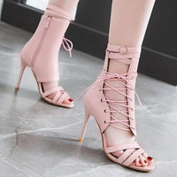 Sexy High Heels Sandals | Lace Up Stiletto High Heel Shoes-high heel sandals-Vinny's Digital Emporium