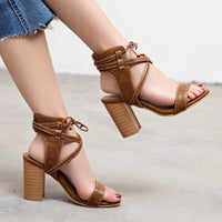 Lace-Up High Heel Sandals For Women-high heel sandals-Vinny's Digital Emporium
