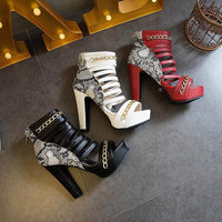 Women's Gladiator Sandals | High Heel Platform Sandals-high heel sandals-Vinny's Digital Emporium