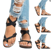 Flat Roman Gladiator Sandals For Women-sandals-Vinny's Digital Emporium