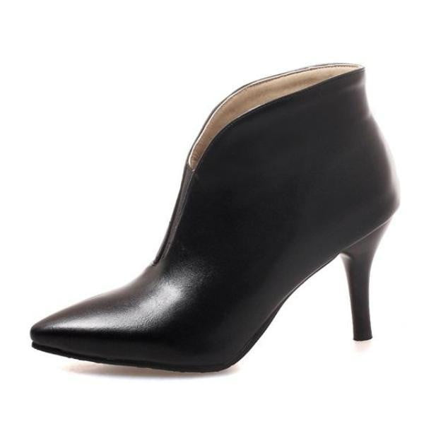 266d84f80 ... Pointed Toe High Heel Ankle Boots For Women-ankle boots-Vinny's Digital  Emporium ...