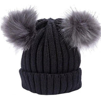 Real Fur Pom Pom Hat Winter Wool Warm Beanie Knitted Skullies Hats Hemming Elasticity-beanie-Vinny's Digital Emporium