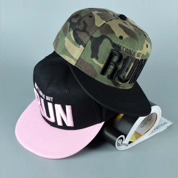 Runing Letter Snapback Baseball Cap Camouflage Hip Hop Hat For Men Women Dance Fashion-baseball cap-Vinny's Digital Emporium