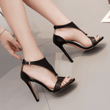 Gladiator High Heel Shoes | Peep Toe Sandals-high heel shoes-Vinny's Digital Emporium