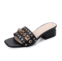 Genuine Leather Low Heel Sandals | Gladiator Slippers Sandals-slipper sandals-Vinny's Digital Emporium