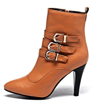Stiletto High Heel Ankle Boots-ankle boots-Vinny's Digital Emporium
