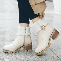 Women's Ankle Boots Warm Fur | High Heel Boots-ankle boots-Vinny's Digital Emporium