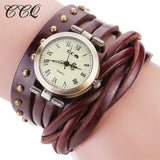 Women Fashion Wrist Watches Analog Quartz Watch Bracelet Style Leather Band-Women's Watch-Vinny's Digital Emporium