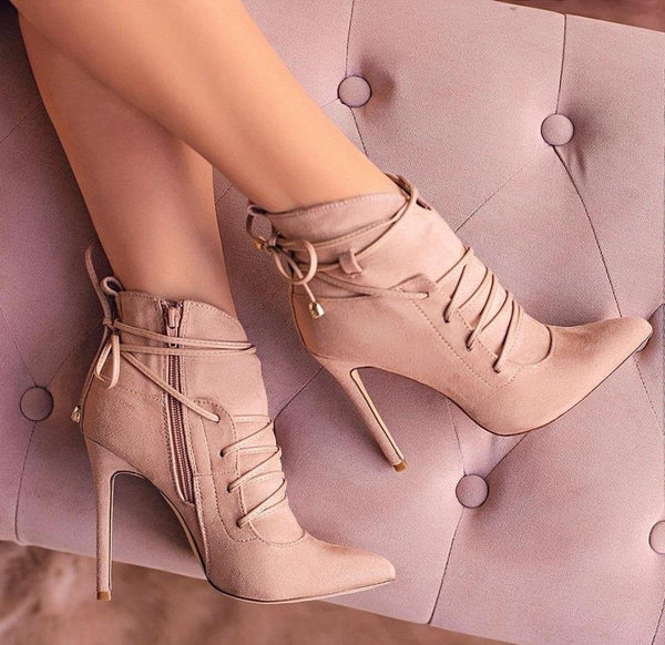 Women's Pink High Heel Pumps | High Heel Booties-Vinny's Digital Emporium