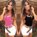 Women Tank Tops Sexy Vest Top Sleeveless Blouse Casual T Shirt-tank tops-Vinny's Digital Emporium