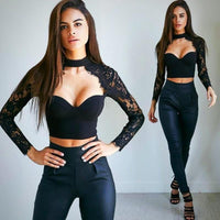 Women's Lace Cami Tops | Casual Crop Top Shirts-blouse-Vinny's Digital Emporium