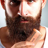 Natural Wood Mustache & Beard Comb With Fine & Coarse Teeth For Men-beard comb-Vinny's Digital Emporium