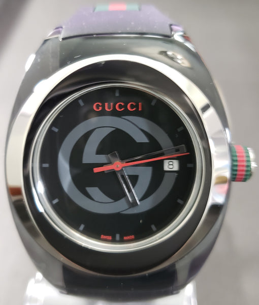 38164619ad8 Gucci SYNC XXL Stainless Steel Watch with Black Rubber Unisex Watch  YA137101 - Retail  495 (
