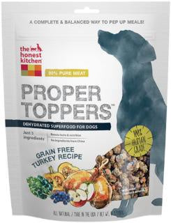 THEHONEST KITCHEN PROPER TOPPERS GRAIN-FREE TURKEY RECIPE DOG FOOD TOPPER