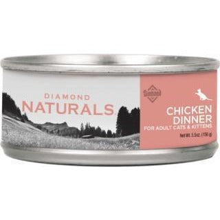 DIAMOND NATURALS CHICKEN DINNER CANNED CAT FOOD 5.5 OZ