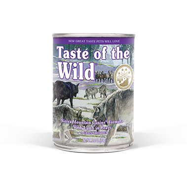 TASTE OF THE WILD SIERRA MOUNTAIN CANINE FORMULA WITH LAMB IN GRAVY CANNED DOG FOOD 13.2 OZ
