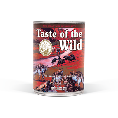TASTE OF THE WILD SOUTHWEST CANYON CANINE FORMULA WITH BEEF IN GRAVY CANNED DOG FOOD 13.2 OZ