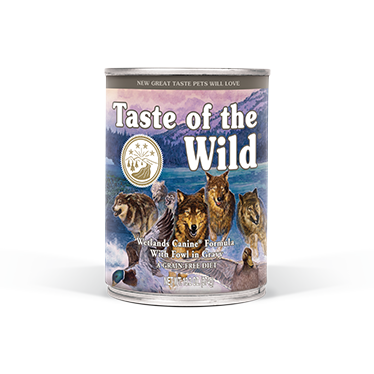 TASTE OF THE WILD WETLANDS CANINE FORMULA WITH FOWL IN GRAVY CANNED DOG FOOD 13.2 OZ