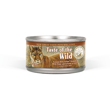 TASTE OF THE WILD CANYON RIVER FELINE FORMULA IN GRAVY CANNED CAT FOOD