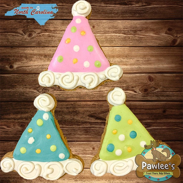PAWTY HAT DECORATED COOKIE