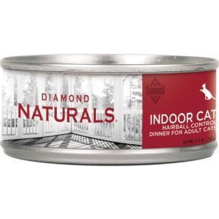 DIAMOND NATURALS INDOOR HAIRBALL CONTROL ADULT CANNED CAT FOOD 5.5 OZ