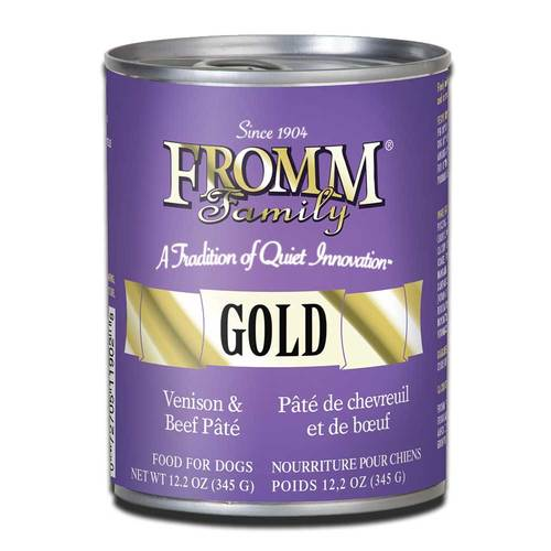FROMM GOLD VENISON AND BEEF PATE CAN FOOD 12.2 OZ