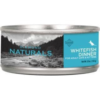 DIAMOND NATURALS WHITEFISH DINNER ADULT CANNED CAT FOOD 5.5 OZ