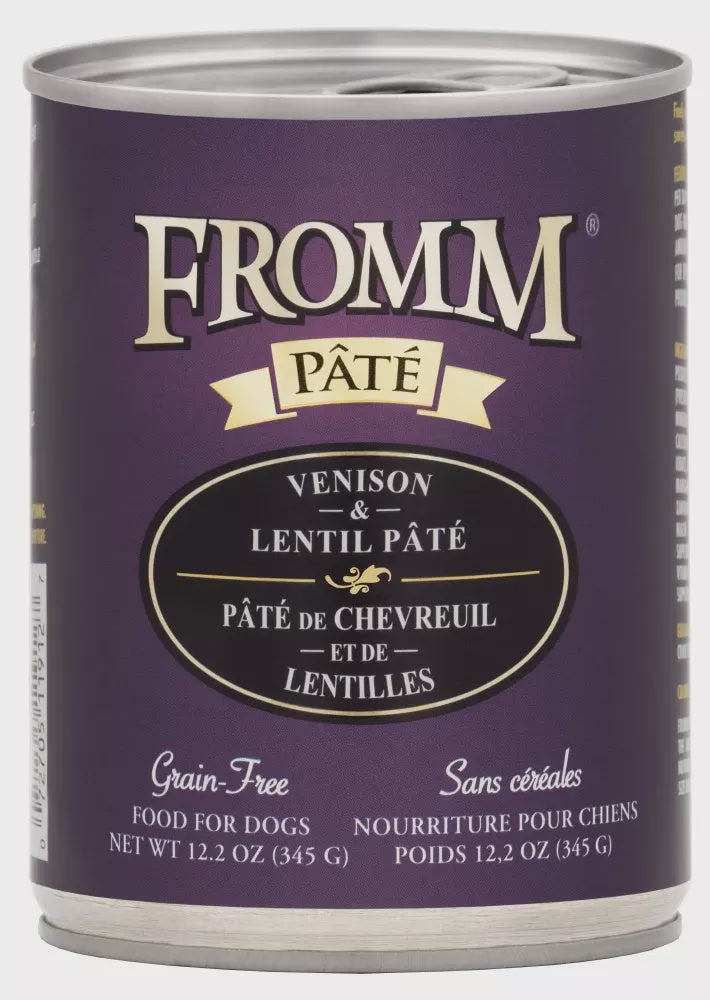 FROMM GRAIN FREE VENISON & LENTIL PATE CANNED DOG FOOD