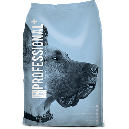 DIAMOND PROFESSIONAL PLUS CHICKEN & PEA FORMULA LARGE BREED ADULT DRY DOG FOOD 28 LB