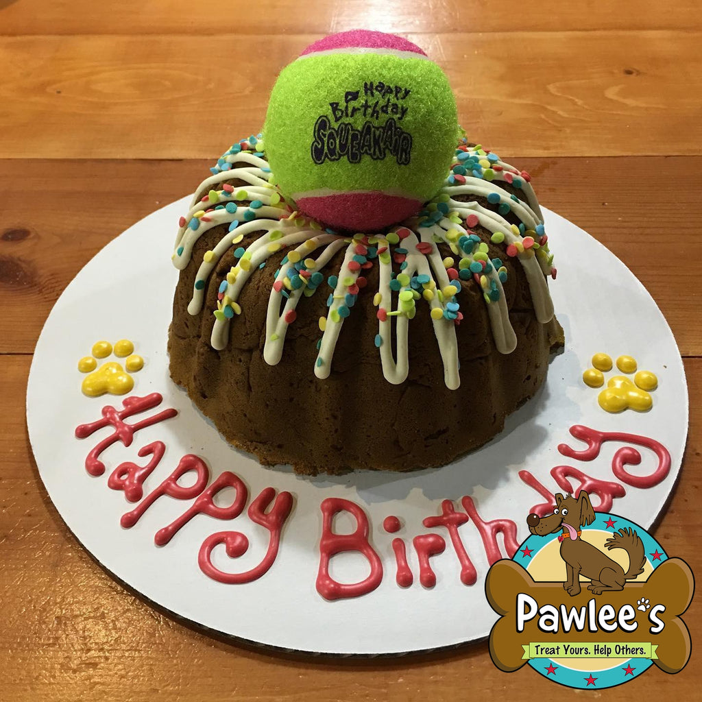HAPPY BARKDAY BUNDT CAKE WITH KONG TOY BALL