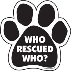 WHO RESCUED WHO? WINDOW DECALS 2/PK
