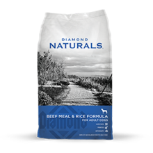 DIAMOND NATURALS BEEF MEAL & RICE FORMULA ADULT DRY DOG FOOD 40 LB