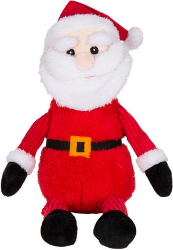 WAGS & PURRS HOLIDAY SANTA WITH SQUEAKER DOG TOY