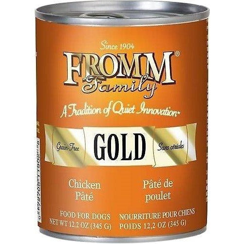 FROMM GOLD GRAIN-FREE CHICKEN PATE CANNED DOG FOOD, 12.2 oz
