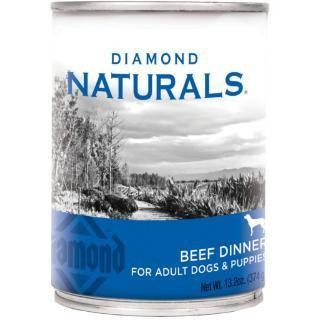 DIAMOND NATURALS BEEF DINNER CANNED DOG FOOD 13.2 OZ
