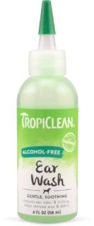 TROPICLEAN SOOTHING ALCOHOL FREE EAR WASH 4oz