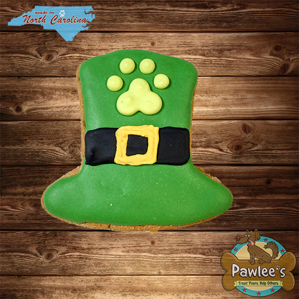 St. Patrick's Day Leprechaun Hat Decorated Cookie 6/pk