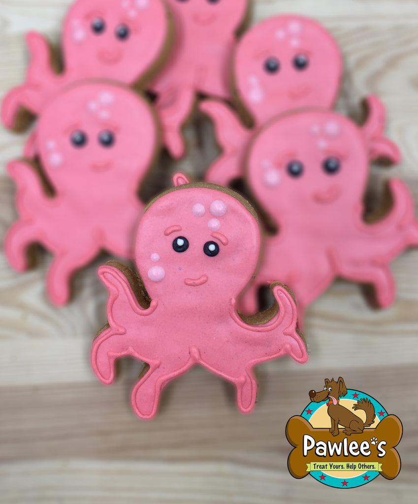 Octopus Decorated Cookie 6/pk