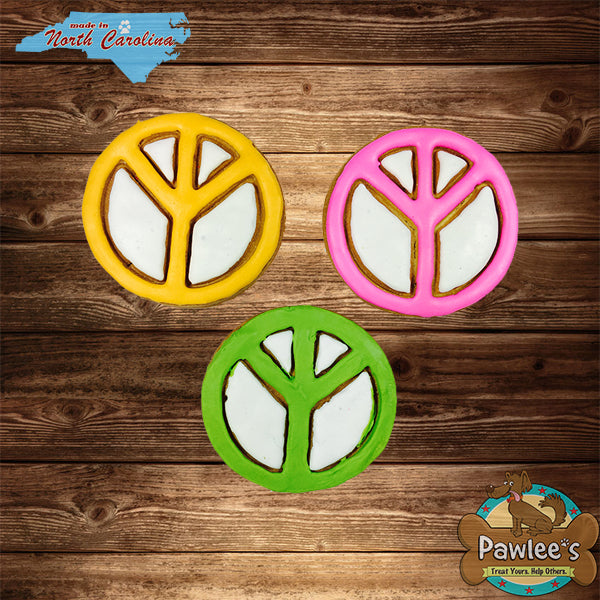 Peace Sign Decorated Cookie 6/pk