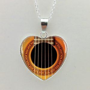Heart Shaped Guitar Necklace