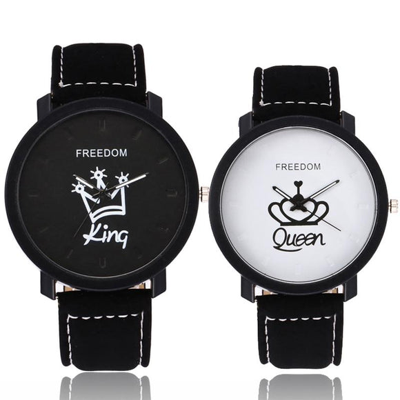 Fashion Couple King and Queen Watch