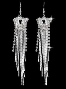 OPULENT CRYSTAL DANGLE EARRINGS