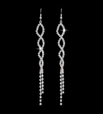 HELIX CRYSTAL DANGLE EARRINGS