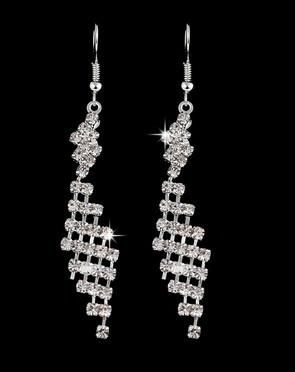 CRYSTAL LATTICE DANGLE EARRINGS