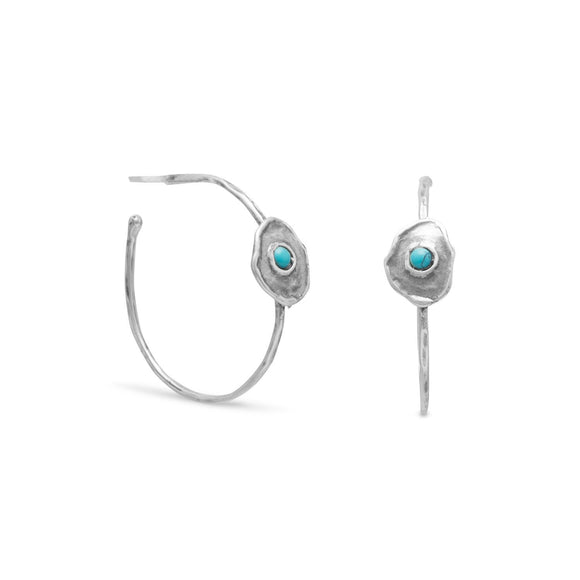 Blue Isle Brass Post Hoop Earrings