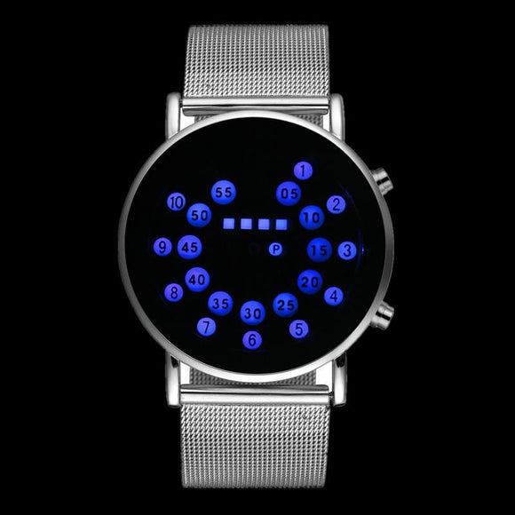 Binary Circle  Watch