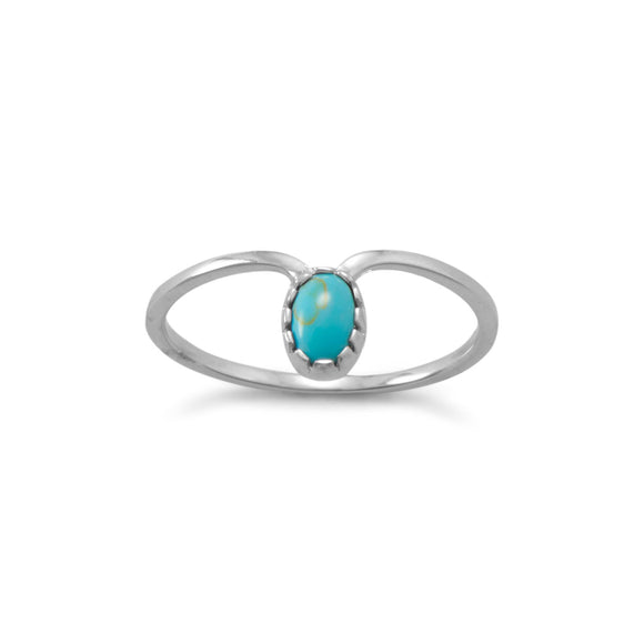 Turquoise Drop Ring