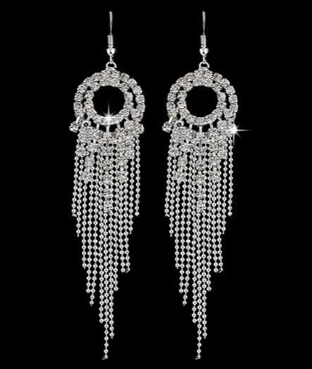 BLING CATCHER CRYSTAL DANGLE EARRINGS