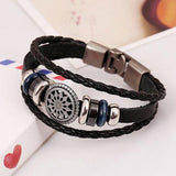 Ethnic Faux Leather Infinity Bracelet