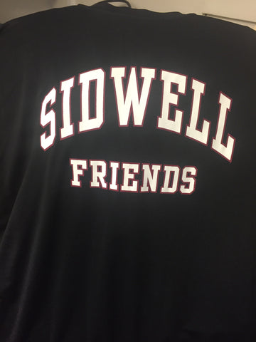 "Adult Long Sleeve Dry Fit ""Sidwell Friends"" Shirt - Black"